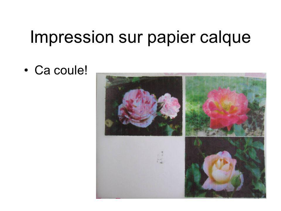 Impression sur papier calque