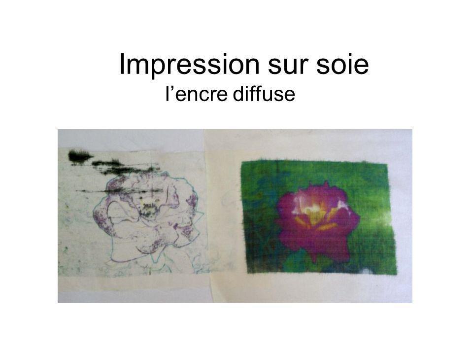 Impression sur soie l'encre diffuse