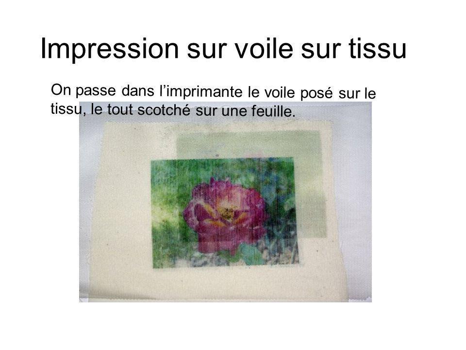 Impression sur voile sur tissu