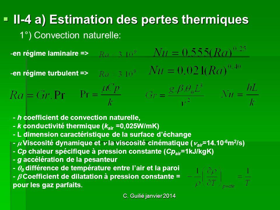 II-4 a) Estimation des pertes thermiques