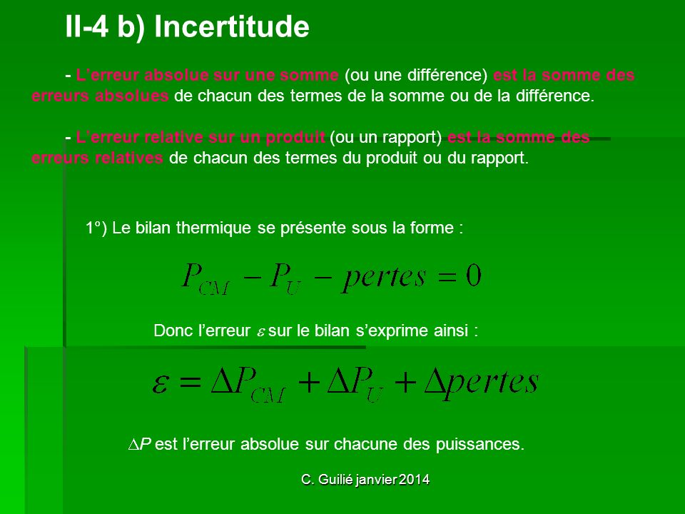 II-4 b) Incertitude