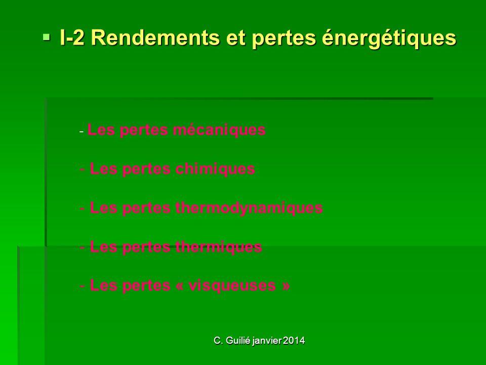 I-2 Rendements et pertes énergétiques