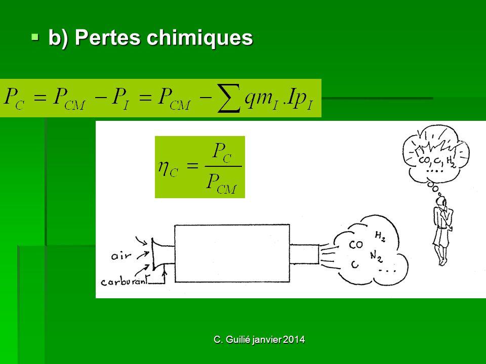 b) Pertes chimiques C. Guilié janvier 2014