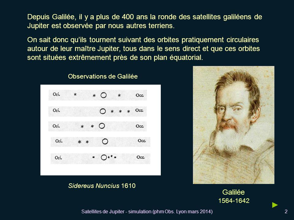 Depuis Galilée, il y a plus de 400 ans la ronde des satellites galiléens de Jupiter est observée par nous autres terriens.
