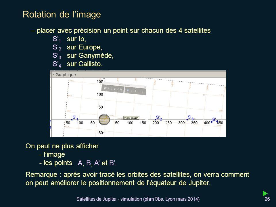 Satellites de Jupiter - simulation (phm Obs. Lyon mars 2014)