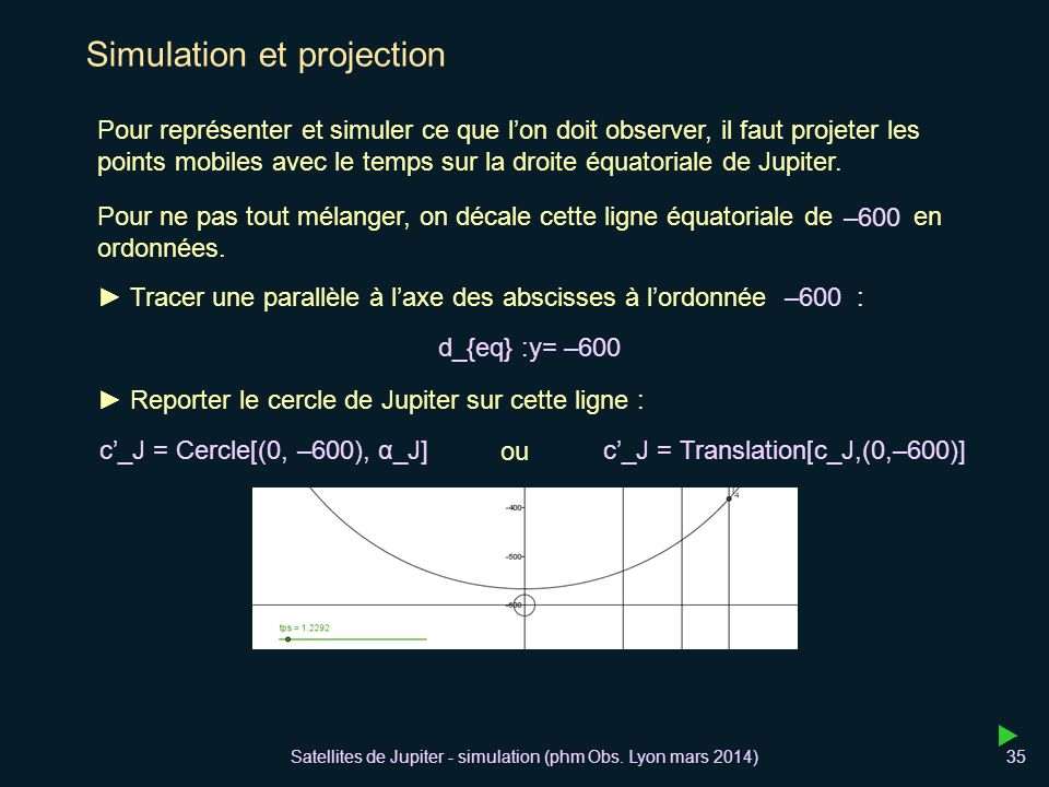 Simulation et projection