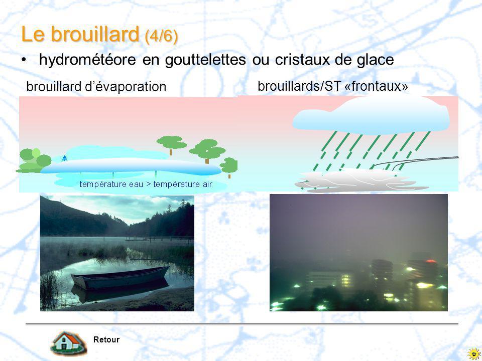 Le brouillard (4/6) hydrométéore en gouttelettes ou cristaux de glace