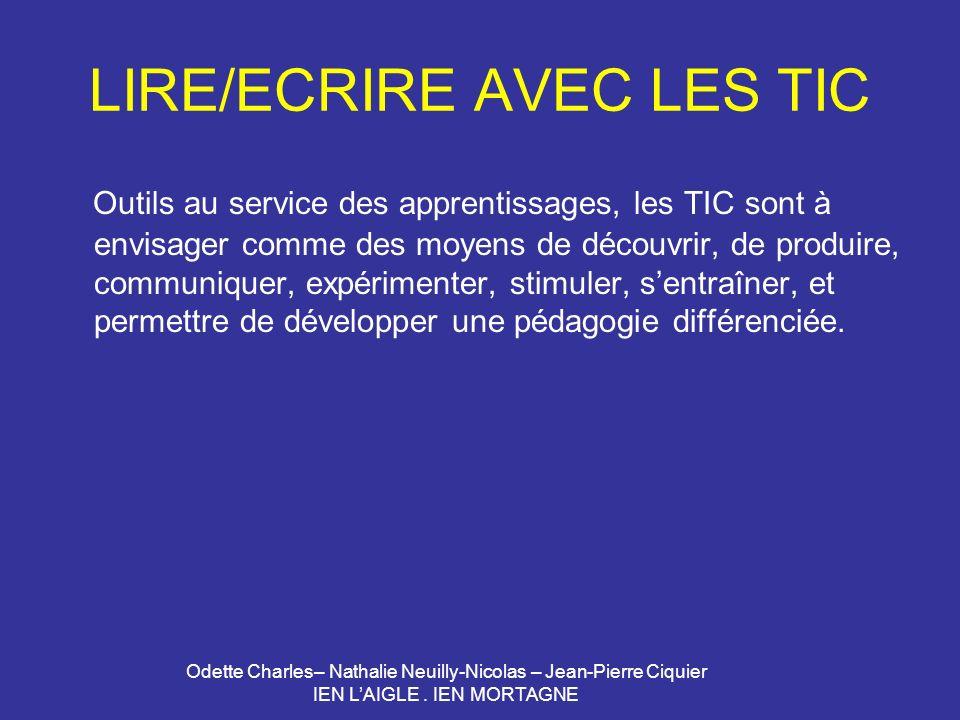 LIRE/ECRIRE AVEC LES TIC