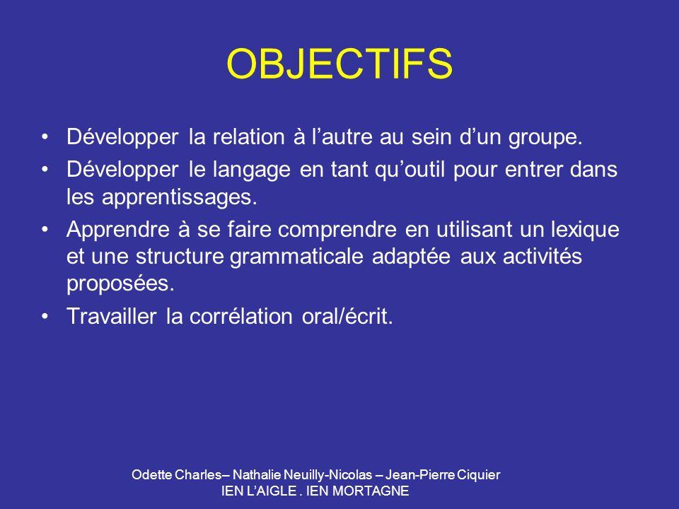 OBJECTIFS Développer la relation à l'autre au sein d'un groupe.