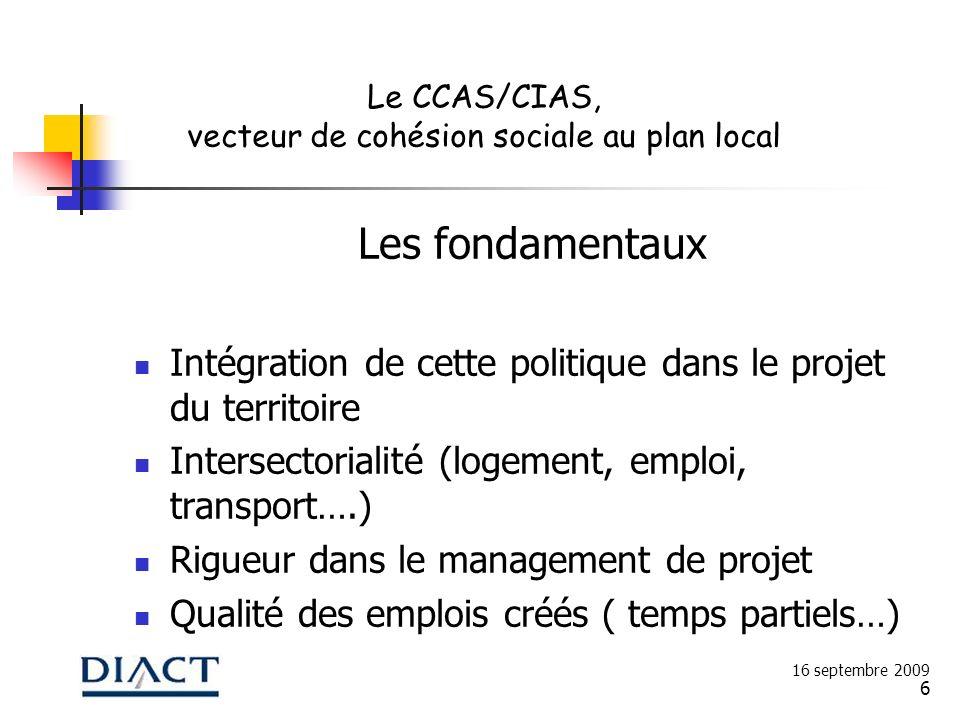 vecteur de cohésion sociale au plan local