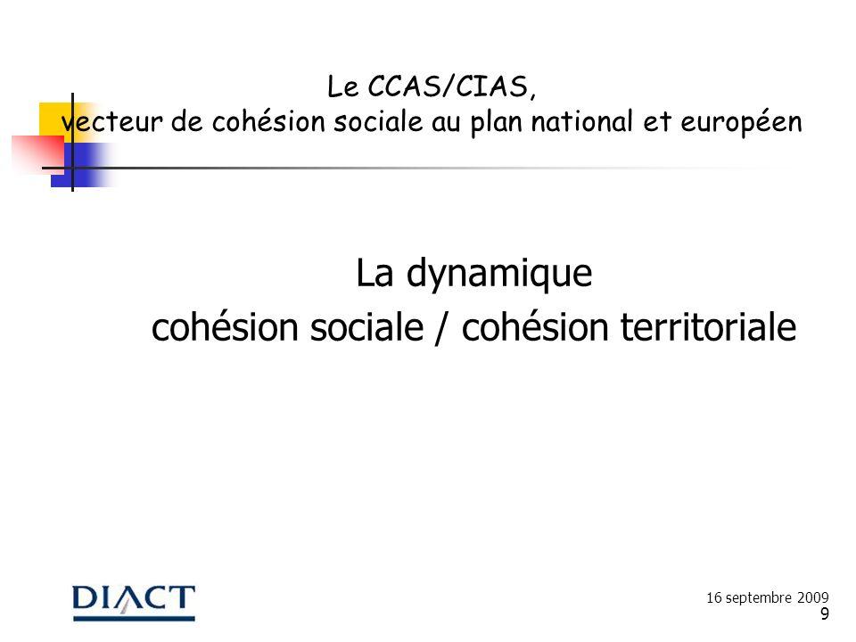 cohésion sociale / cohésion territoriale