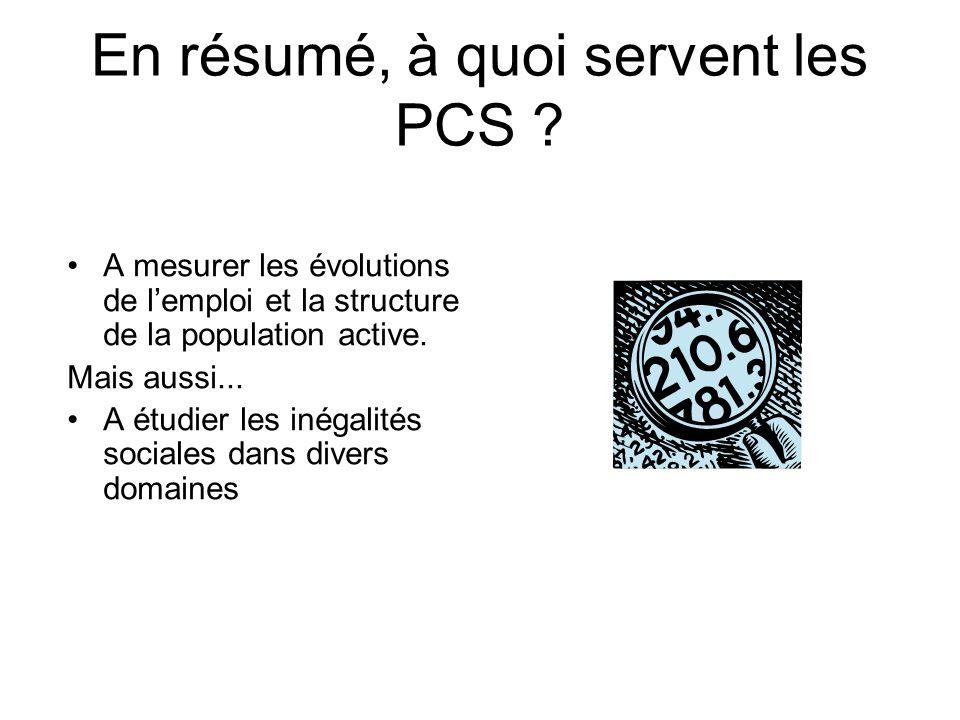 En résumé, à quoi servent les PCS