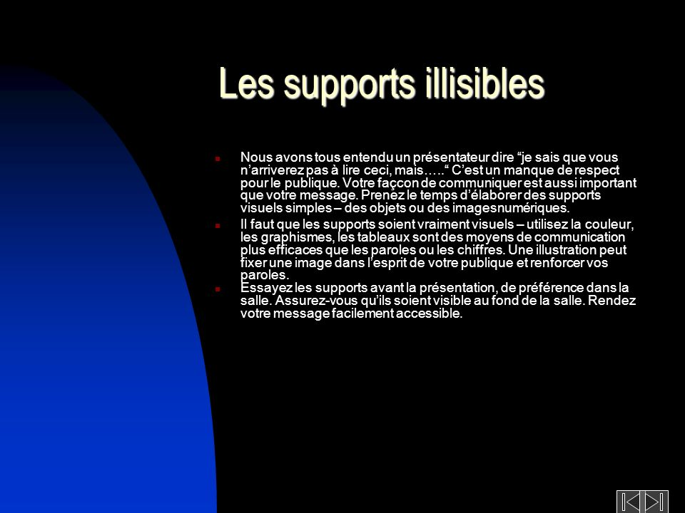 Les supports illisibles