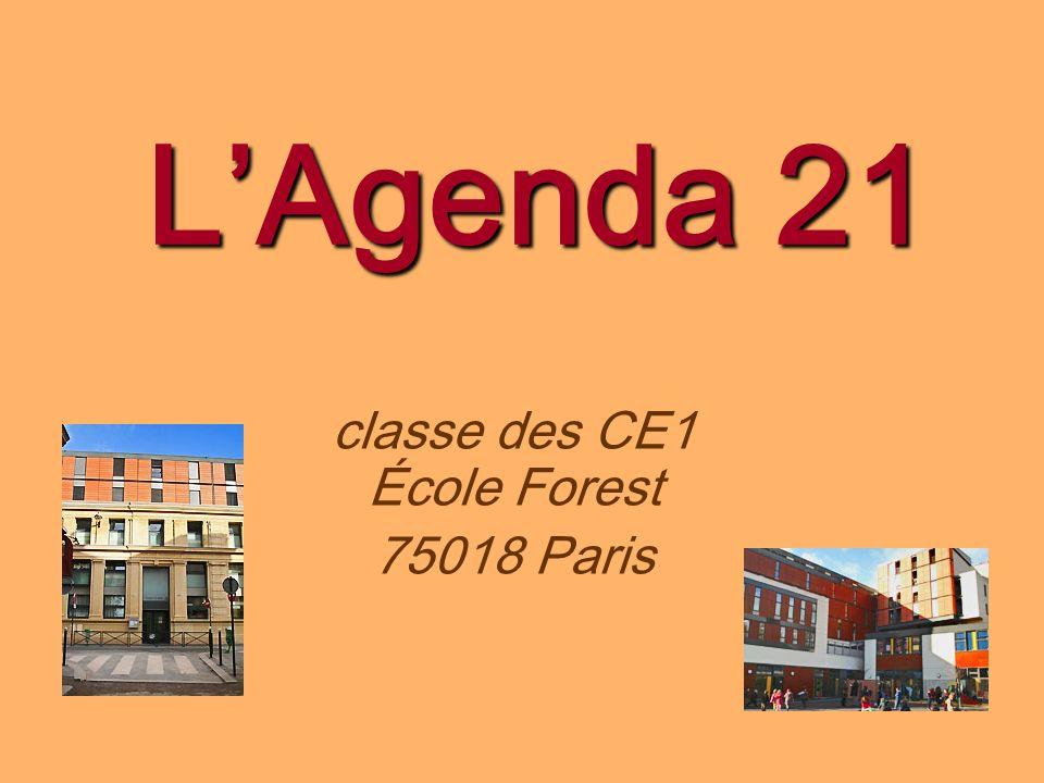 classe des CE1 École Forest 75018 Paris