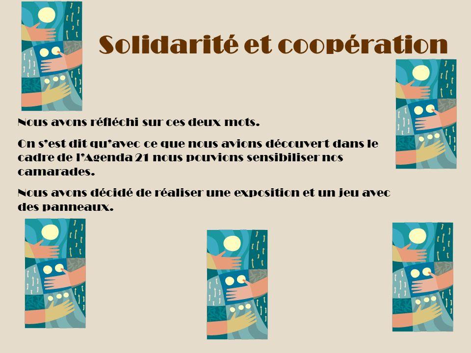 Solidarité et coopération