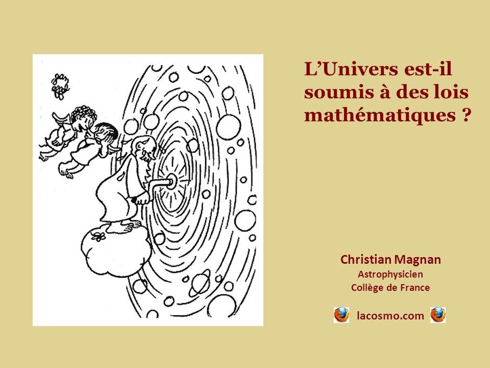 L'Univers est-il soumis à des lois mathématiques