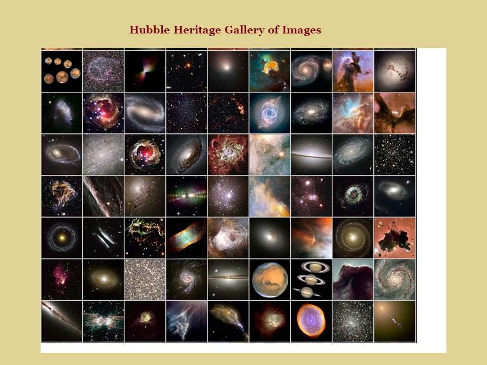 Hubble Heritage Gallery of Images