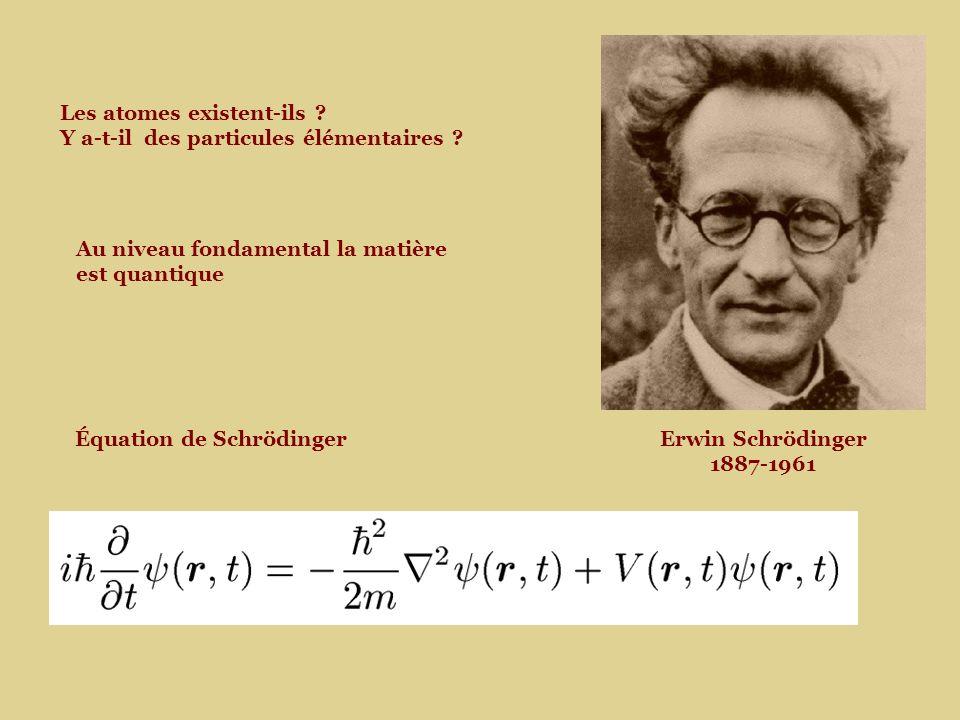 Les atomes existent-ils Y a-t-il des particules élémentaires