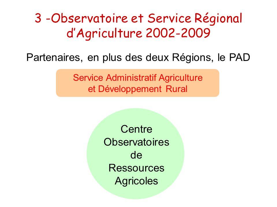 3 -Observatoire et Service Régional d'Agriculture 2002-2009