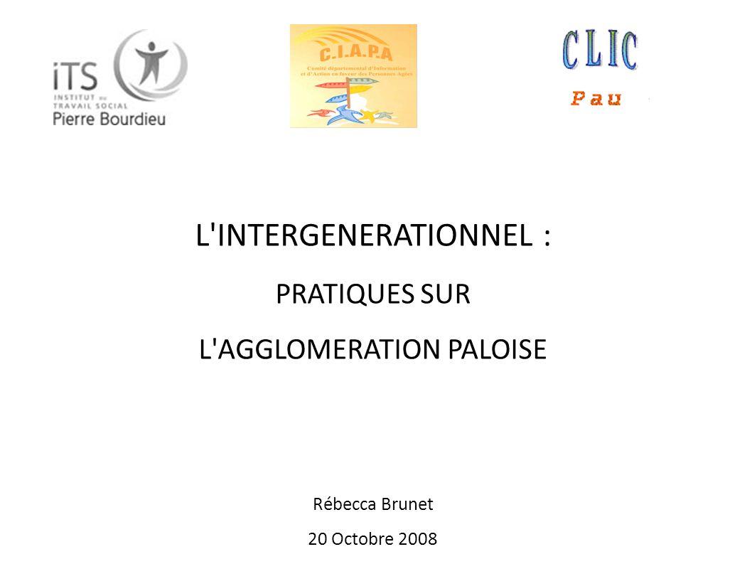 L INTERGENERATIONNEL : PRATIQUES SUR