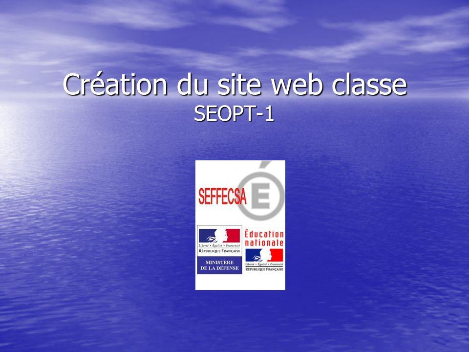 Création du site web classe