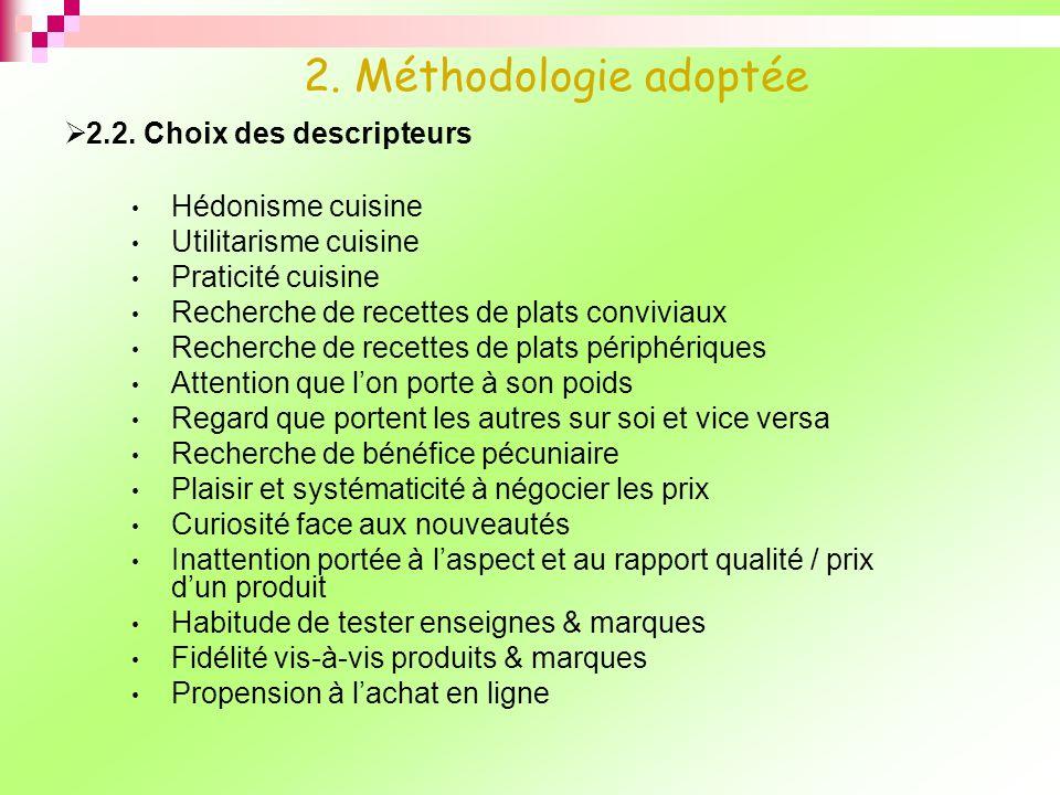 2.2. Choix des descripteurs