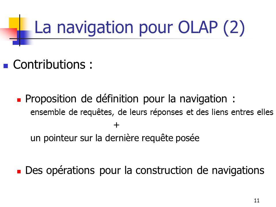 La navigation pour OLAP (2)