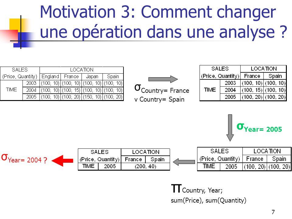 Motivation 3: Comment changer une opération dans une analyse