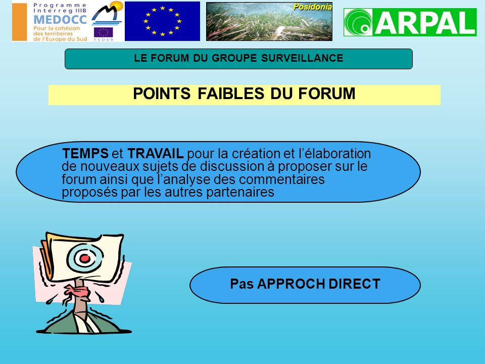 LE FORUM DU GROUPE SURVEILLANCE POINTS FAIBLES DU FORUM
