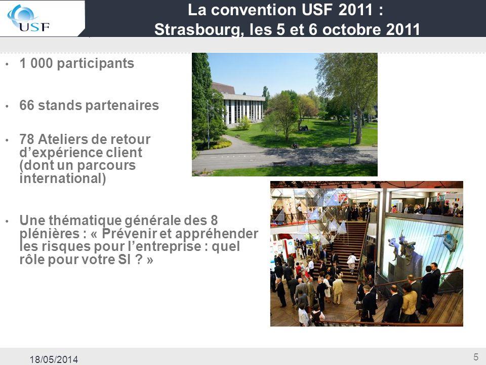 La convention USF 2011 : Strasbourg, les 5 et 6 octobre 2011