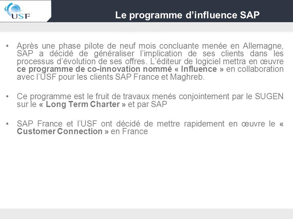 Le programme d'influence SAP