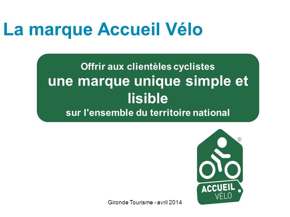 La marque Accueil Vélo une marque unique simple et lisible