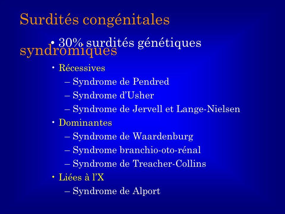 Surdités congénitales syndromiques