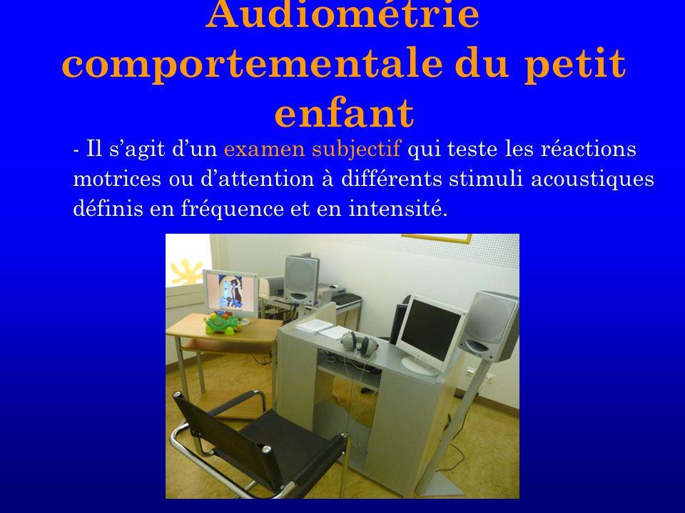 Audiométrie comportementale du petit enfant