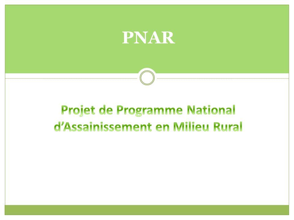Projet de Programme National d'Assainissement en Milieu Rural