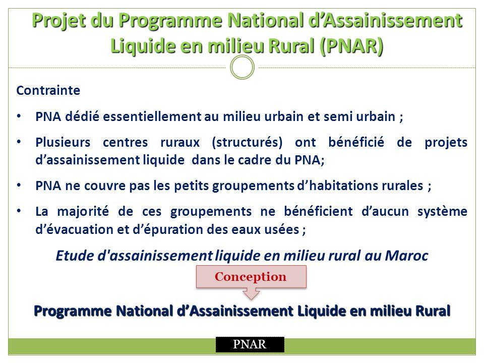 Projet du Programme National d'Assainissement Liquide en milieu Rural (PNAR)