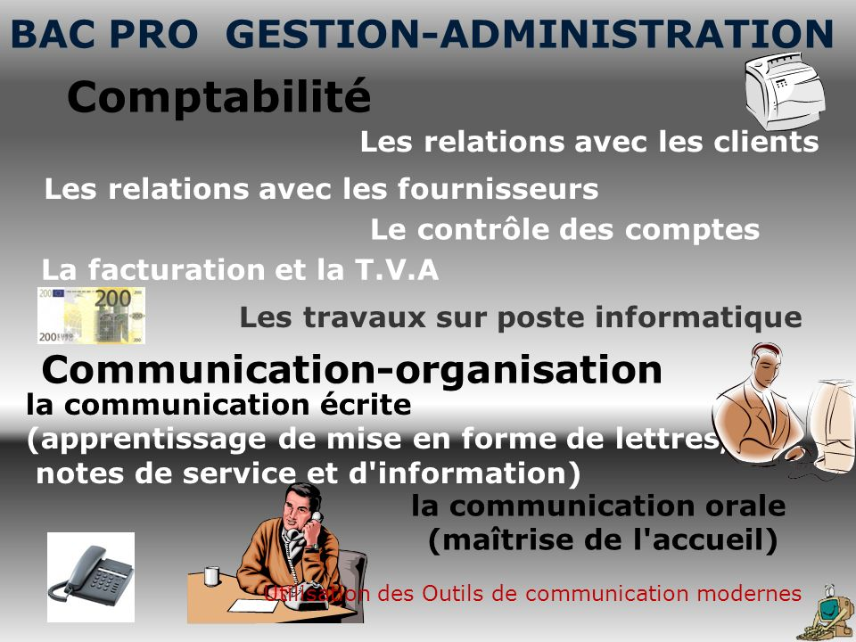 Comptabilité BAC PRO GESTION-ADMINISTRATION Communication-organisation