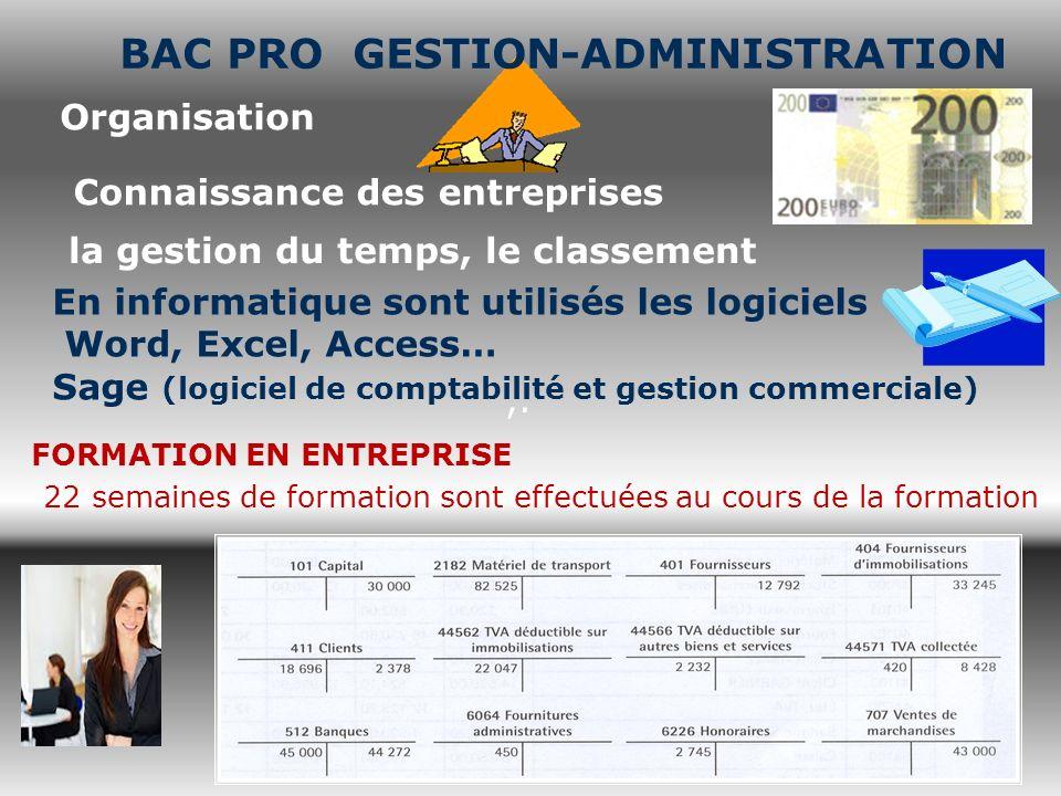 BAC PRO GESTION-ADMINISTRATION la gestion du temps, le classement