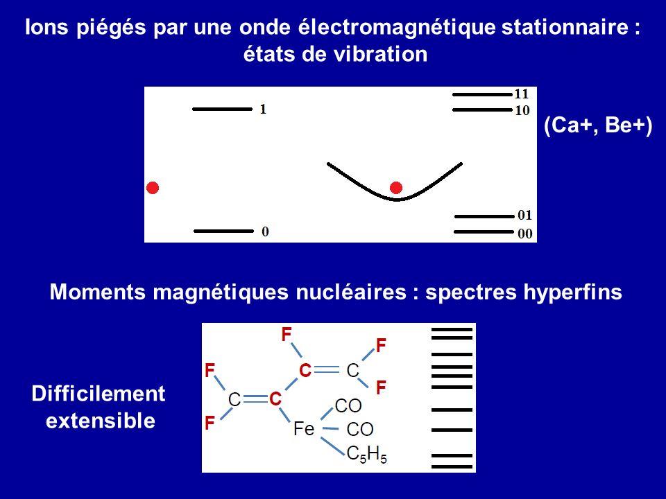 Ions piégés par une onde électromagnétique stationnaire :