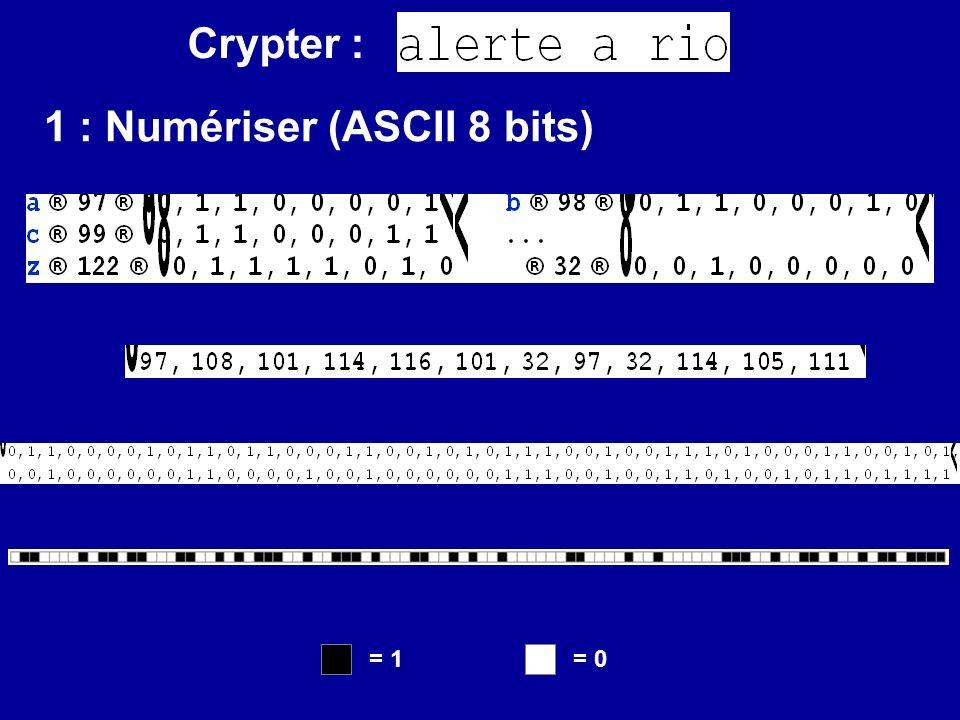 1 : Numériser (ASCII 8 bits)