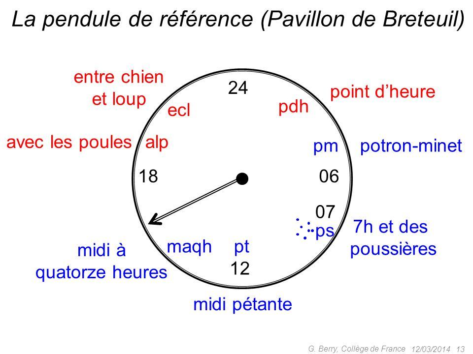 La pendule de référence (Pavillon de Breteuil)