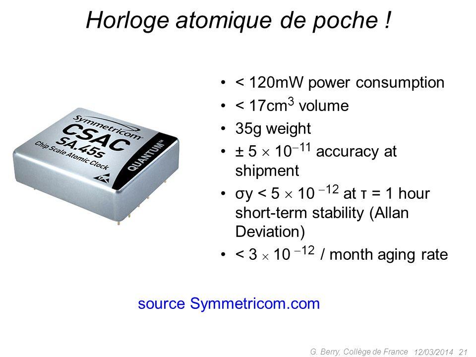 Horloge atomique de poche !