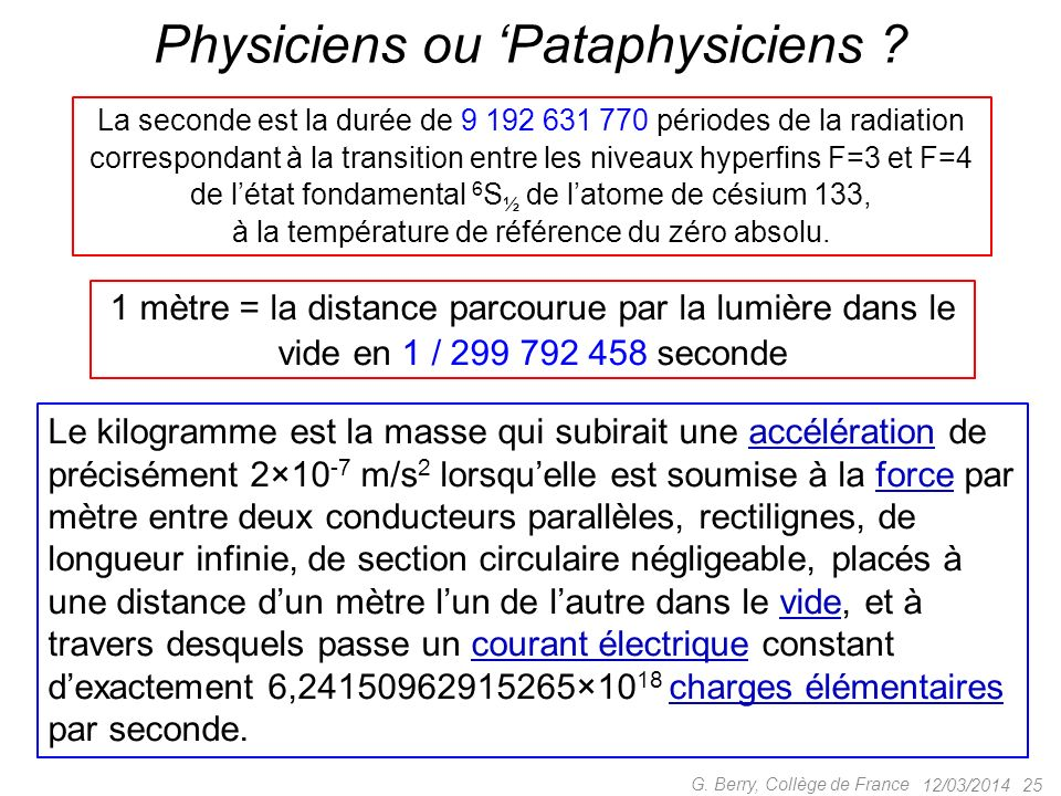 Physiciens ou 'Pataphysiciens