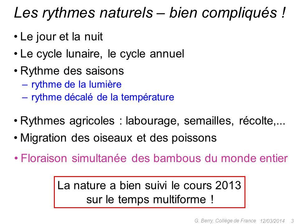 Les rythmes naturels – bien compliqués !