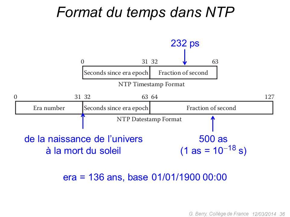 Format du temps dans NTP
