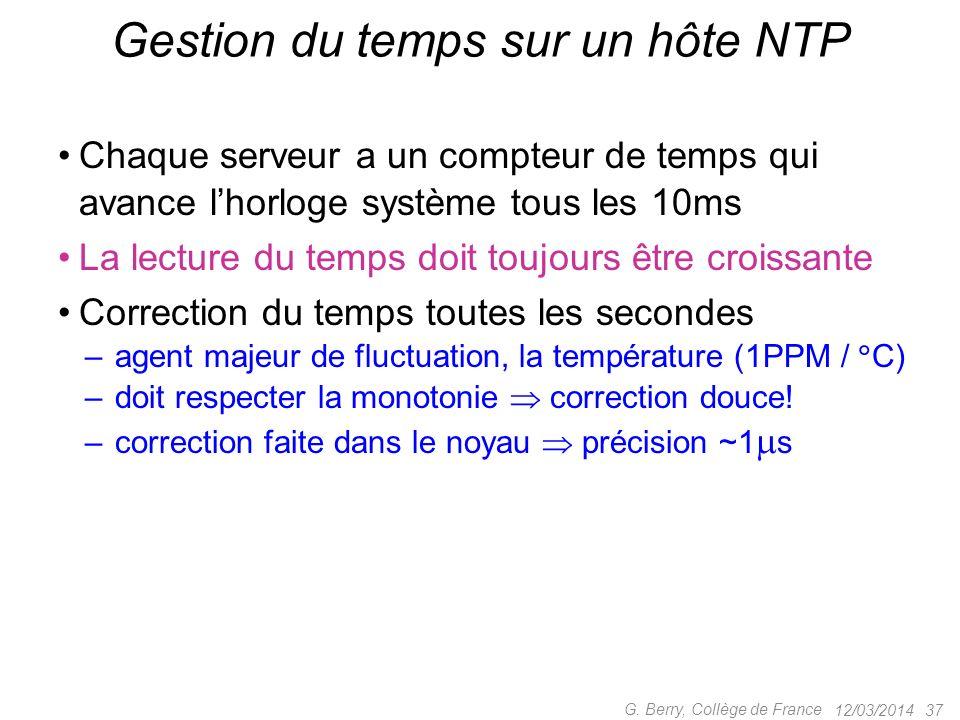 Gestion du temps sur un hôte NTP