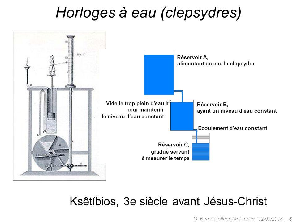 Horloges à eau (clepsydres)