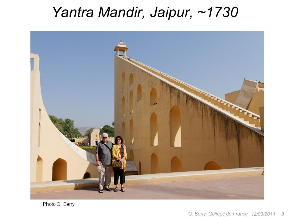 Yantra Mandir, Jaipur, ~1730 Photo G. Berry