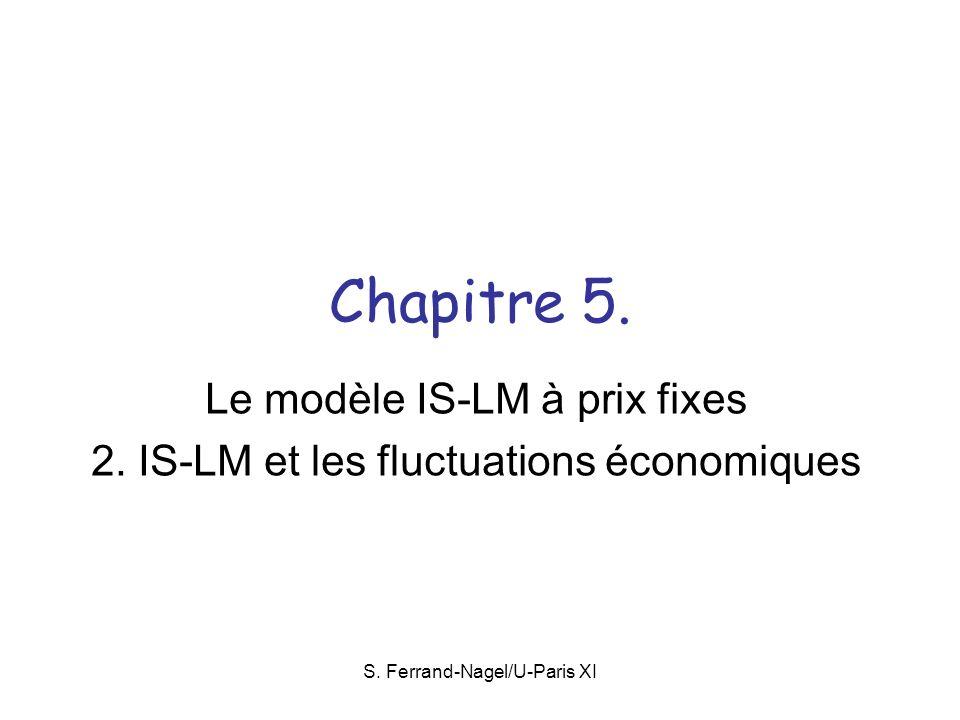 Le modèle IS-LM à prix fixes 2. IS-LM et les fluctuations économiques