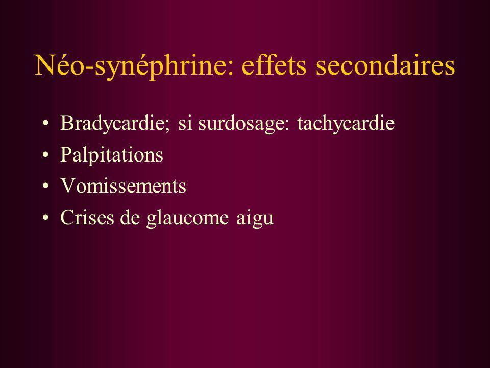 Néo-synéphrine: effets secondaires